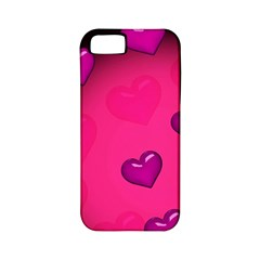 Pink Hearth Background Wallpaper Texture Apple Iphone 5 Classic Hardshell Case (pc+silicone)