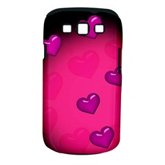 Pink Hearth Background Wallpaper Texture Samsung Galaxy S III Classic Hardshell Case (PC+Silicone)