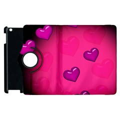 Pink Hearth Background Wallpaper Texture Apple iPad 2 Flip 360 Case