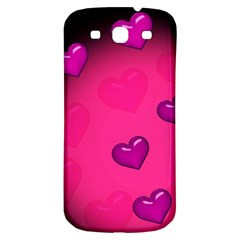 Pink Hearth Background Wallpaper Texture Samsung Galaxy S3 S III Classic Hardshell Back Case