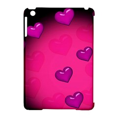 Pink Hearth Background Wallpaper Texture Apple iPad Mini Hardshell Case (Compatible with Smart Cover)