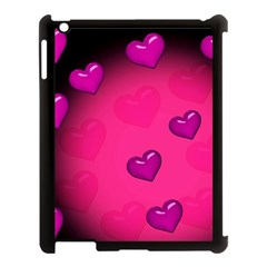 Pink Hearth Background Wallpaper Texture Apple iPad 3/4 Case (Black)