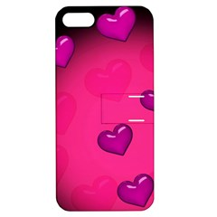 Pink Hearth Background Wallpaper Texture Apple iPhone 5 Hardshell Case with Stand