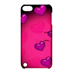 Pink Hearth Background Wallpaper Texture Apple Ipod Touch 5 Hardshell Case With Stand