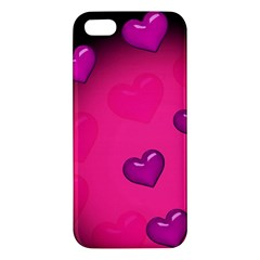 Pink Hearth Background Wallpaper Texture Apple iPhone 5 Premium Hardshell Case