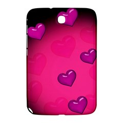 Pink Hearth Background Wallpaper Texture Samsung Galaxy Note 8 0 N5100 Hardshell Case