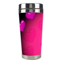 Pink Hearth Background Wallpaper Texture Stainless Steel Travel Tumblers