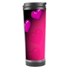 Pink Hearth Background Wallpaper Texture Travel Tumbler