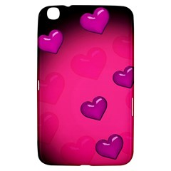 Pink Hearth Background Wallpaper Texture Samsung Galaxy Tab 3 (8 ) T3100 Hardshell Case