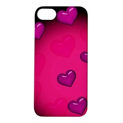 Pink Hearth Background Wallpaper Texture Apple iPhone 5S/ SE Hardshell Case