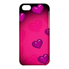 Pink Hearth Background Wallpaper Texture Apple iPhone 5C Hardshell Case