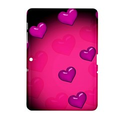 Pink Hearth Background Wallpaper Texture Samsung Galaxy Tab 2 (10.1 ) P5100 Hardshell Case