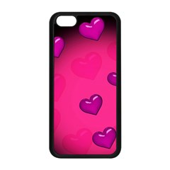 Pink Hearth Background Wallpaper Texture Apple Iphone 5c Seamless Case (black)