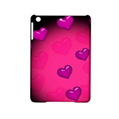 Pink Hearth Background Wallpaper Texture iPad Mini 2 Hardshell Cases