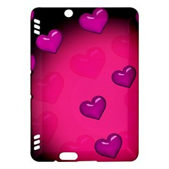 Pink Hearth Background Wallpaper Texture Kindle Fire HDX Hardshell Case