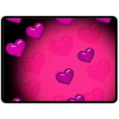 Pink Hearth Background Wallpaper Texture Double Sided Fleece Blanket (Large)