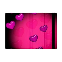 Pink Hearth Background Wallpaper Texture Ipad Mini 2 Flip Cases
