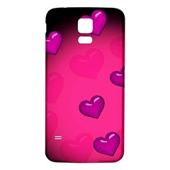 Pink Hearth Background Wallpaper Texture Samsung Galaxy S5 Back Case (white)