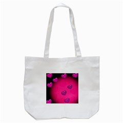 Pink Hearth Background Wallpaper Texture Tote Bag (white)