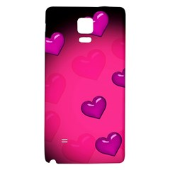 Pink Hearth Background Wallpaper Texture Galaxy Note 4 Back Case