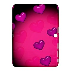 Pink Hearth Background Wallpaper Texture Samsung Galaxy Tab 4 (10.1 ) Hardshell Case