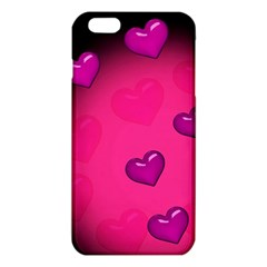 Pink Hearth Background Wallpaper Texture iPhone 6 Plus/6S Plus TPU Case