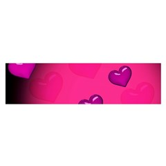 Pink Hearth Background Wallpaper Texture Satin Scarf (Oblong)