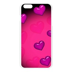 Pink Hearth Background Wallpaper Texture Apple Seamless iPhone 6 Plus/6S Plus Case (Transparent)