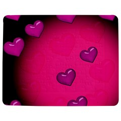 Pink Hearth Background Wallpaper Texture Jigsaw Puzzle Photo Stand (Rectangular)