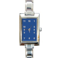 Delphinium Blue in an English Country Garden Rectangle Italian Charm Watch