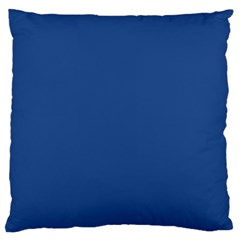 Delphinium Blue in an English Country Garden Large Flano Cushion Case (One Side)