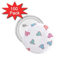 Colorful Random Hearts 1 75  Buttons (100 Pack)