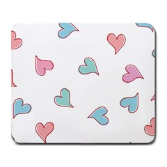 Colorful Random Hearts Large Mousepads