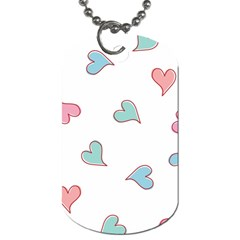 Colorful Random Hearts Dog Tag (one Side)