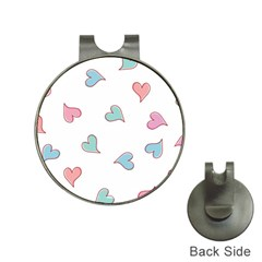 Colorful Random Hearts Hat Clips with Golf Markers