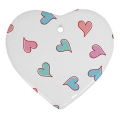 Colorful Random Hearts Heart Ornament (two Sides)
