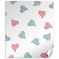 Colorful Random Hearts Canvas 20  x 24