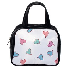 Colorful Random Hearts Classic Handbags (one Side)