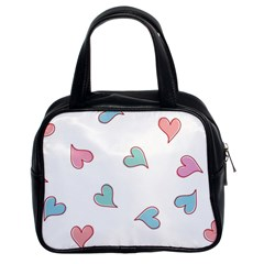 Colorful Random Hearts Classic Handbags (2 Sides)