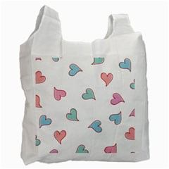 Colorful Random Hearts Recycle Bag (Two Side)