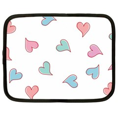 Colorful Random Hearts Netbook Case (XXL)