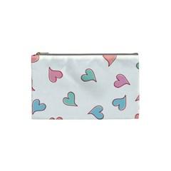 Colorful Random Hearts Cosmetic Bag (small)