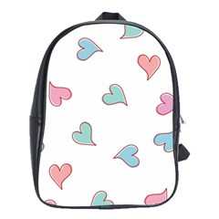 Colorful Random Hearts School Bags(Large)