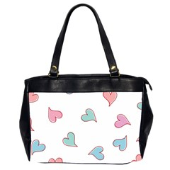 Colorful Random Hearts Office Handbags (2 Sides)
