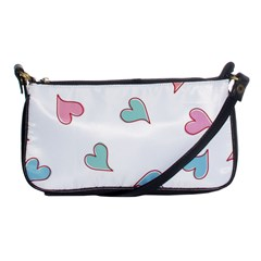 Colorful Random Hearts Shoulder Clutch Bags