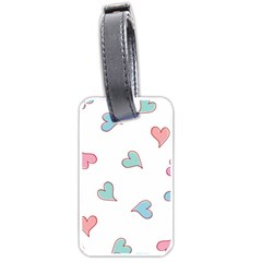 Colorful Random Hearts Luggage Tags (two Sides)