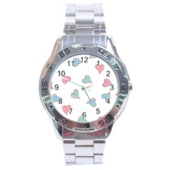 Colorful Random Hearts Stainless Steel Analogue Watch