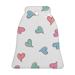 Colorful Random Hearts Bell Ornament (two Sides)