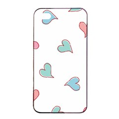 Colorful Random Hearts Apple Iphone 4/4s Seamless Case (black)