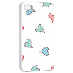 Colorful Random Hearts Apple Iphone 4/4s Seamless Case (white)